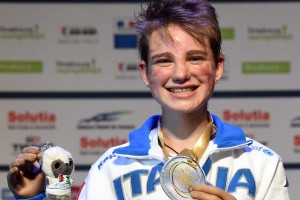 Strasburgo, 09 Giugno 2014  Campionati Europei III giornata Paralimpica  nella foto : Beatrice Vio  foto Augusto Bizzi